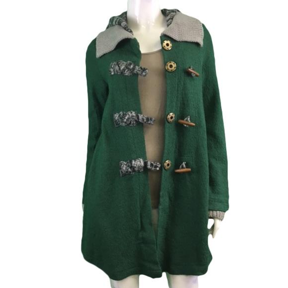 NWT Mystree Green Hooded Jacket